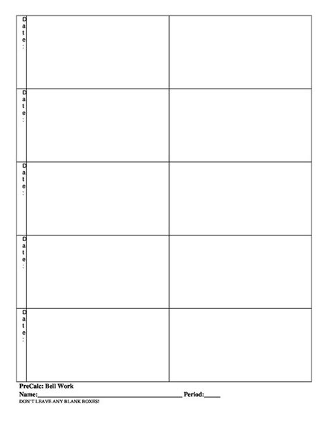 math bell work and templates on pinterest