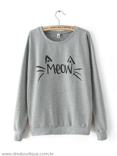 imagenes de blusas kawaii blusa de moletom feminino meow dms boutique