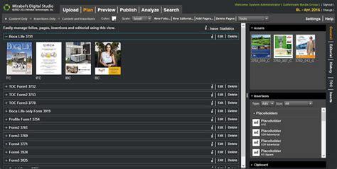 journal layout software publishing flat plan and pagination software digital studio