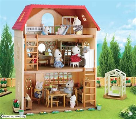 sylvanian family dolls house sylvanian families cedar terrace doll house online shopping shopping square com au