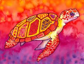 colorful turtles seaturtle spirit print trippy colorful sea turtle in