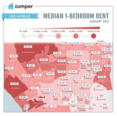 appartments for rent in los angeles see how much la spent on rent this january the zumper blog