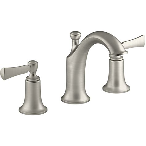 brushed nickel bathroom sink faucet shop kohler elliston vibrant brushed nickel 2 handle