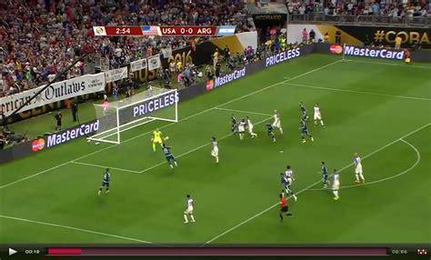 copa america 2016 usa argentina 0 4 highlights della