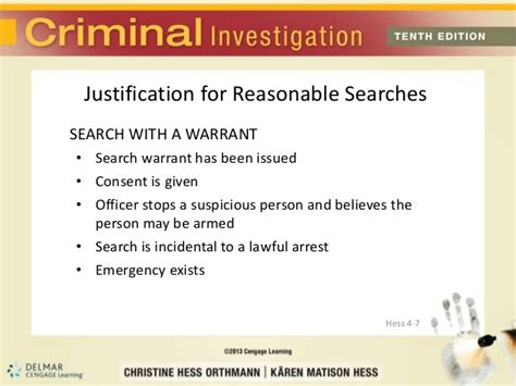 10 Exceptions To Search Warrant Rule Hess10 Chap4