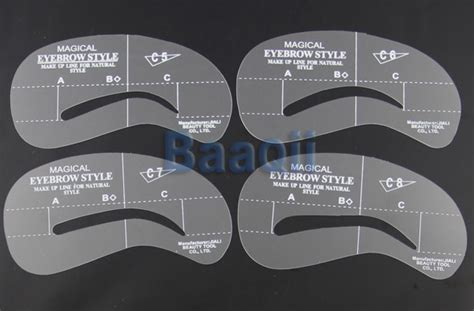 eye brow template 4 eyebrow eye brow shaping stencils reusable shadow