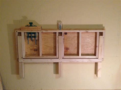 wall mounted folding work bench folded up on the wall fold down work bench for my garage