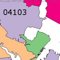 zip code map maine portland maine zip code map map