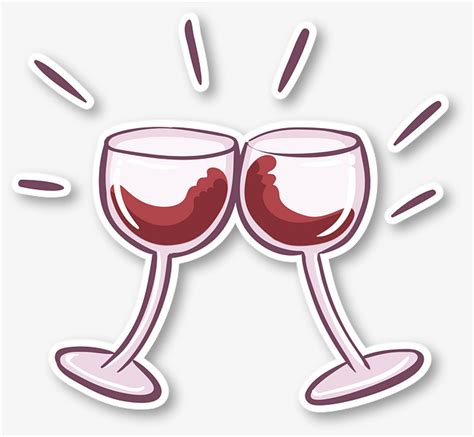 cartoon wine glass cartoon wine glasses stickers lovers cartoon sticker