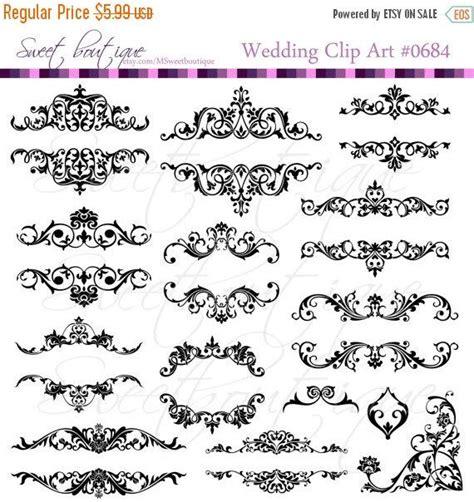 Wedding Flourish Clipart by Sale Flourish Frames Clip Digital Flourishes