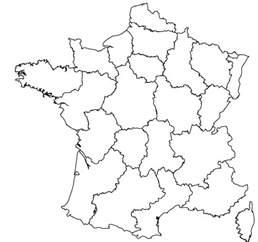 France Map Blank by Maps Of The Regions Of France