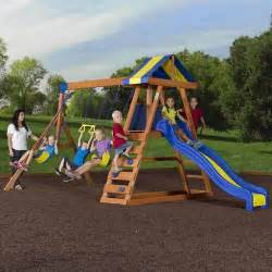 backyard discovery dayton cedar wooden swing set walmart