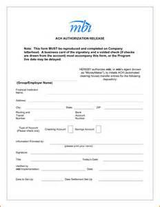 ach forms templates ach authorization form letterhead template ach