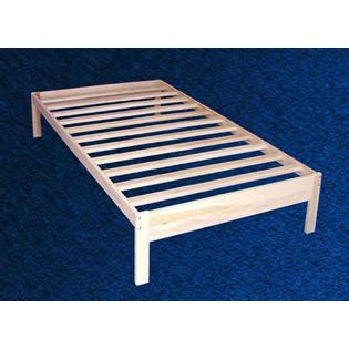 wood twin platform bed greenhome123 unfinished solid wood platform bed frame in
