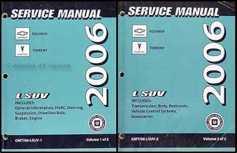 auto repair manual online 2006 chevrolet equinox regenerative braking 2006 chevrolet equinox pontiac torrent repair shop manual original set of 2