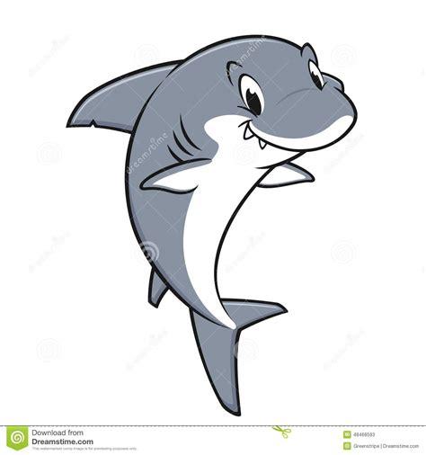 baby shark instrumental cartoon friendly shark stock vector image 48468593