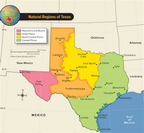 texas four regions map regions of texas mr peterson s history class