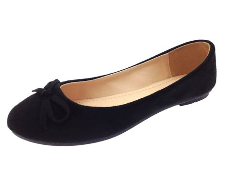 flat suede shoes womens faux suede dolly ballet pumps flat casual loafers