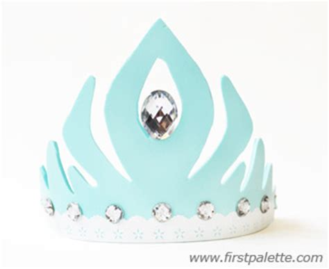 frozen princess crown craft kids crafts firstpalette com