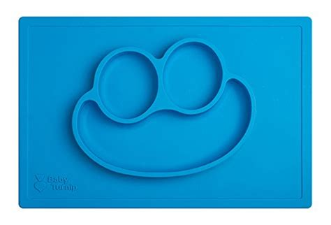 Silicone Plate Placemat Pinguin baby turnip meal placemat blue one silicone placemat baby plate food beverages