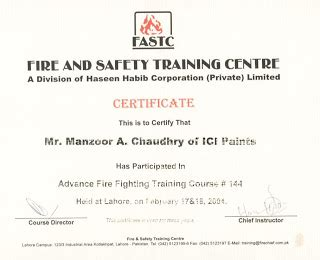 28 fire training certificate template free