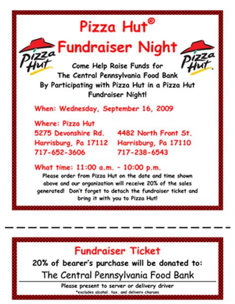 Pizza Hut Fundraiser Dine And Donate Flyer Template