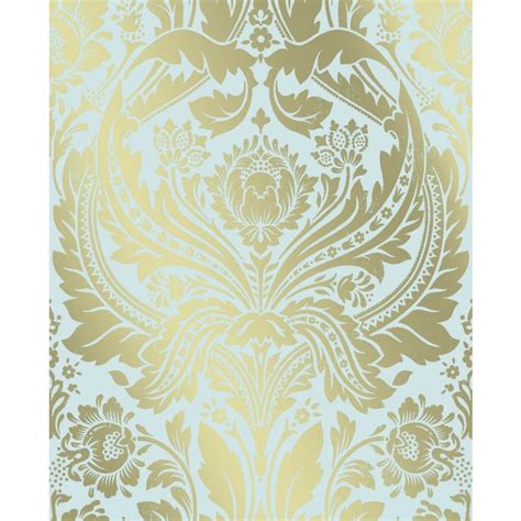 Lowe S Home Design Tool superfresco easy damask wallpaper in teal gold lowe s canada