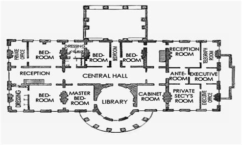 White House Replica Floor Plans | floor plan of the white house white house third floor
