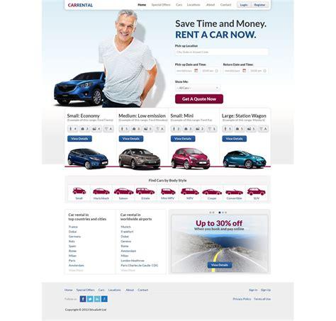 Free Car Rental Template Rent A Car Website Template Rental Website Template Free