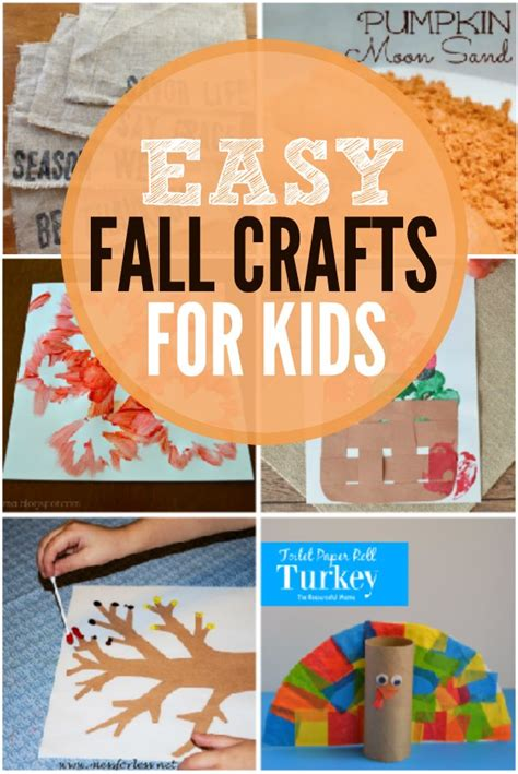 fast crafts for fall crafts for and easy fall crafts for toddlers