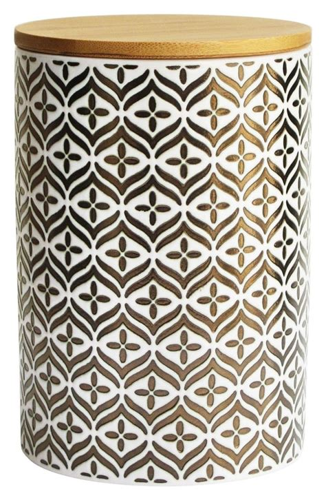 Gold Patterned Kitchen Canister Gifts For The Kitchen
