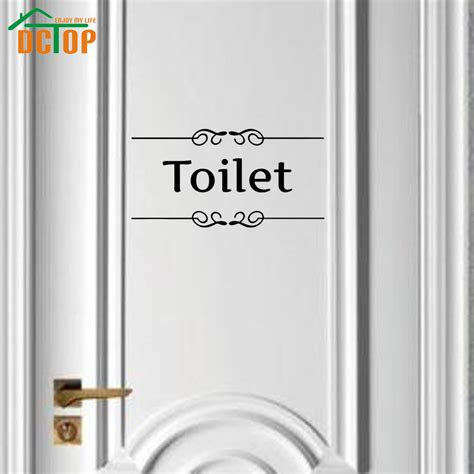 bathroom door stickers aliexpress com buy sign of toilet wall stickers adhesive