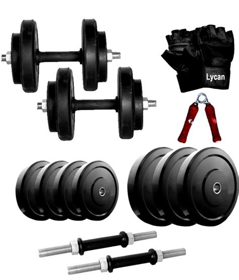 Dumbbell 50 Kg Lycan 50 Kg Adjustable Dumbbell With 2 Pc Dumbbell Rod And