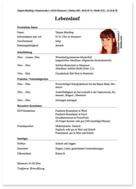 Lebenslauf Bildungsgang Tabellarischer Form F 228 Higkeiten Bewerbung Lebenslauf