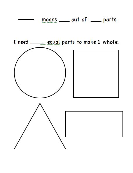 fraction booklet template common worksheets 187 fraction template preschool and