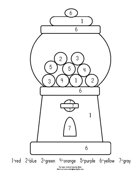 gumball math coloring page pin gumball math color number ajilbabcom portal on pinterest