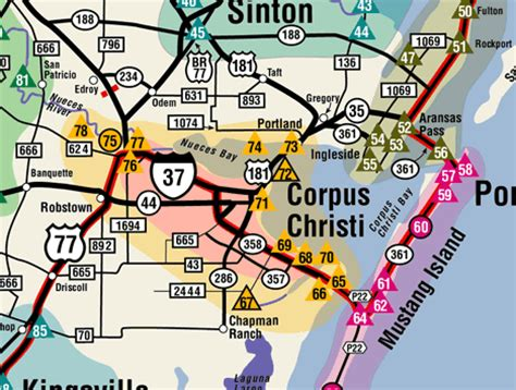 city map of corpus christi texas corpus christi texas map