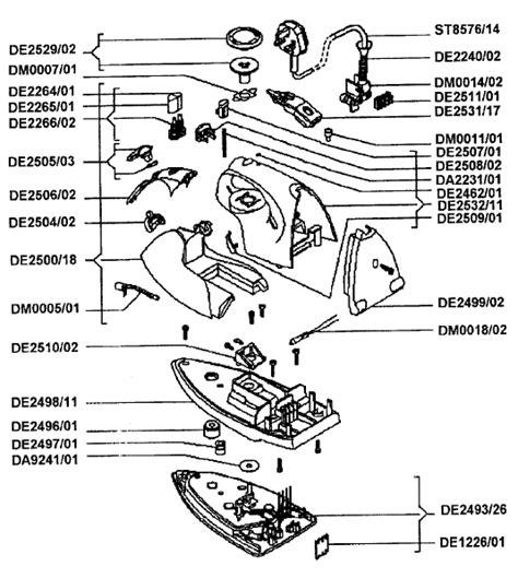 rowenta iron parts diagram rowenta de433 small appliance spares buyspares