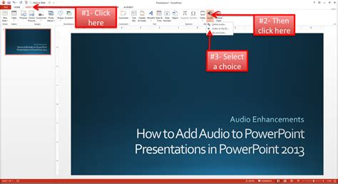 Add Music To Powerpoint Presentations In Powerpoint 2013 Where To Powerpoint