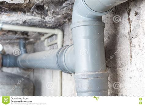 basement sewer system sewer pipes in home basement stock photo image 82327002