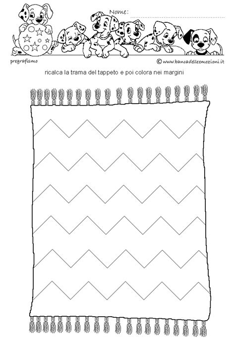 tappeto disegno disegnare le linee tappeto bambini pregrafismo