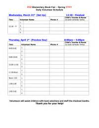 Fair Sign In Sheet Template by Book Fairs Pto Today