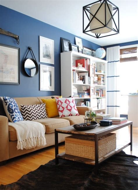 blue walls in living room unique blue and white living room design ideas decozilla