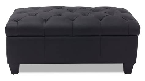 black ottoman carson tufted contemporary ottoman black zuri furniture
