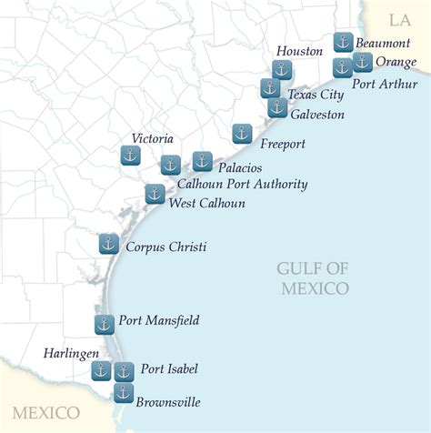 texas ports map key figures official texas economic development corporation