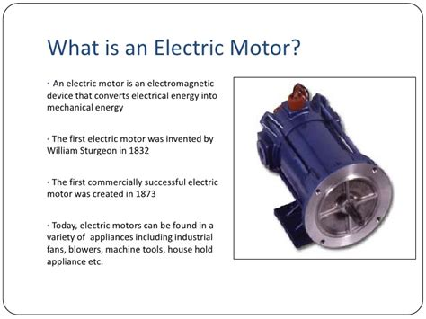 electric motor introduction introduction to electric motors