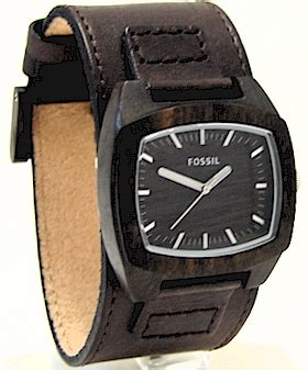 Fossil Wood Leather fossil jr9927 s analog brown wood brown