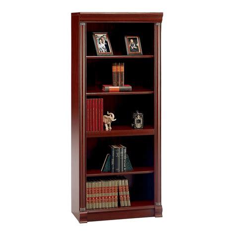 Bookcases At Lowes shop bush furniture birmingham executive harvest cherry 71 06 in 5 shelf bookcase at lowes