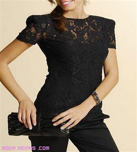 imagenes blusas negras blusas negras de encaje imagui