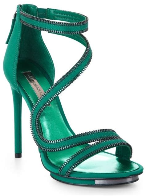 Octav Luxe Strappy Sandals Green bcbgmaxazria leela sandal 8 fall green with envy pieces for fall